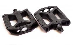 """TRIX, Педали пластиковые, HF-827, 110x105мм, 9/16"""", с шипами, черные"""