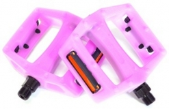 "Педали Z-Plus Z-0911, Sensitive, пластик белый/красный, CrMo ось 9/16"", 90x95x28mm, 127g,"