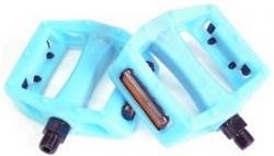 """Педали Z-Plus Z-0911, Sensitive, пластик белый/синий, CrMo ось 9/16"""", 90x95x28mm, 127g,"""