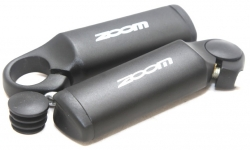 Рога на руль алюминиевые ZOOM,чёрные,для руля  Ø 22,2мм MT-90А