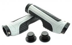 SAIGUAN, Ручки руля SR-86 130 мм, черные/серые, анатомические