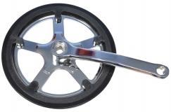 """Шатуны (комплект) 165 мм под скор.цепь(1/2"""" x 3/32"""" на 44 зуба) с защитой системы (Материал:ST) GS-S"""