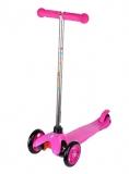 Самокат детский TRIX STEEX, трехколесный, перед 2x120 мм, зад 80 мм, max 30 кг, алюм/пласт, розовый