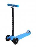Самокат детский TRIX ELEOS, четырехколесный, 2x120 мм, зад 2x80 мм, max60 кг, алюм/пласт, синий