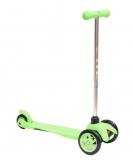 Самокат детский TRIX STEEX, трехколесный, перед 2x120 мм, зад 80 мм, max 30 кг, алюм/пласт, зеленый