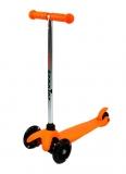 Самокат детский TRIX STEEX, трехколесный, перед 2x120 мм, зад 80 мм, max 30 кг, алюм/пласт, оранж.