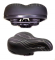 TRIX, Седло AZ-6629, 255x185 мм, комфортное, эластомерное, с замком, цвет черный