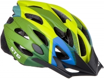 Шлем STG, модель MV29-A, размер L(58-61)cm салат/син/черн, с фикс застежкой