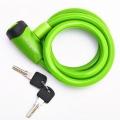 Vinca Sport, Замок вело. 10*1200мм, зеленый трос, защита от влаги,инд.уп. VS 565 green