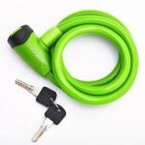 Замок велосипедный 10*1200мм, зеленый, защита от влаги, Vinca Sport, VS 565 green