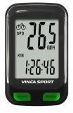 Vinca Sport, Компьютер проводной, 12 функций, черный с зеленым, инд.уп. V-3500 black/green