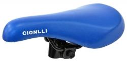 Седло Cionlli 9196, синее, стальные рейлы