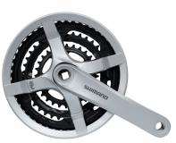 Shimano, Система FC-TY501 48-38-28T 175мм, серебро, квадрат, с защитой