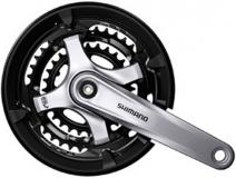 Система Shimano FC-TY701 48-38-28T 170мм, серебро, квадрат, с защитой