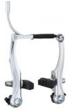 Тормоз V-brake MX-B004, алюминиевый сплав 110мм, silver, колодки 70 мм, (2 комп.)