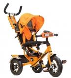 Трехколесный детский велосипед TRIX HG-T50, черно-оранжевый