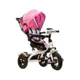 Трехколесный детский велосипед TRIX HG-T60, бело-розовый