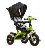 Трехколесный детский велосипед TRIX HG-T60, черно-зеленый