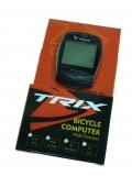 TRIX, Беспроводной велокомпьютер, 18 функций, черный