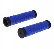 TRIX, Грипсы 2-х компонентные, 125 мм, черно-синие HL-G49 dark blue