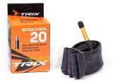 TRIX, Камера 20*1,95/2,125 автониппель AV 60мм, бутиловая