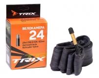 TRIX, Камера 24*1,95/2,125 автониппель AV 60мм, бутил