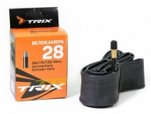 TRIX, Камера 28*1,75 автониппель AV 48 мм, бутил
