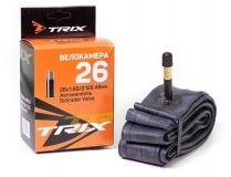 TRIX, Велокамера 26*1,95-2,125 автомобильный ниппель 48мм, Shrader AV, бутил