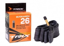 TRIX, Велокамера 26*1,95-2,125 автомобильный ниппель 60мм, Shrader AV, бутил