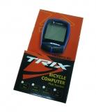 TRIX, Велокомпьютер проводной, 16 функций, цвет синий
