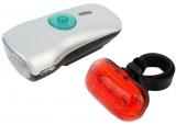Комплект фонарей, передний + задний, JING YI, JY-822-2