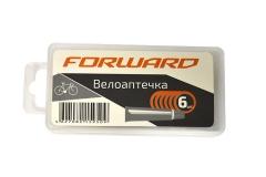 Велоаптечка Forward, 6 заплаток, клей 5мл, в пластиковой коробке