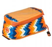 Roswheel, Велосумка на руль, отделение для телефона, оранжевый/белый/синий, 121024LMN-H