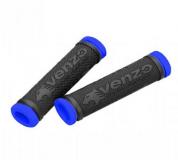 VENZO, Грипсы резиновые, черный/синий, VZ20-E05-003