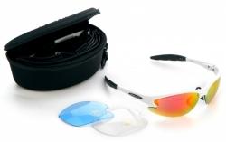 VENZO, Очки спортивные, 2 пары сменных линз, футляр, белая оправа, VZ-F27-002