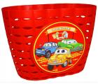 Корзинка детская на руль 12-16, цвет красный, 220x140x120мм, Vinca Sport P06 Cars
