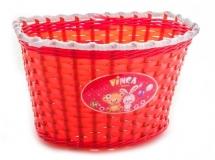 Корзинка детская на руль 16, красная, 240x165x155мм, Vinca Sport, P04 Bare and Hare