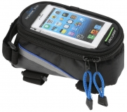 Vinca Sport, Сумка на раму, отделение для телефона, 195х100х100мм, синий кант FB 07L black/blue