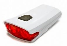 Задний фонарь X-light, белый корпус, USB шнур, аккум. 3,7V, 300mAh, XC-122R