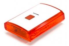 Задний фонарь X-light, белый корпус, USB шнур, аккум. 3,7V, 300mAh, XC-142
