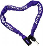 Vinca Sport, Велозамок - цепь 6*1000мм, фиолетовая оплетка, VS 101.759 violet