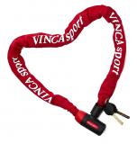 Vinca Sport, Велозамок - цепь 6*1000мм, красная оплетка, VS 101.759 red