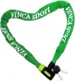 Vinca Sport, Велозамок - цепь 6*1000мм, зеленая оплетка, VS 101.759 green