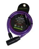 Vinca Sport, Велозамок 8*1200мм, фиолетовый, VS 102.102 violet