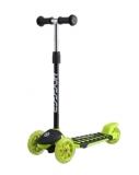 Самокат детский TRIX ZEBRA, колеса: перед 120*30мм, зад 100*48мм, черно-зеленый, 2019