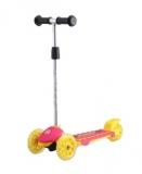 Самокат детский TRIX ZEBRA, колеса: перед 120*30мм, зад 100*48мм, желто-розовый, 2019