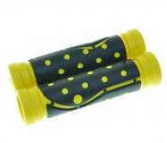 """Грипсы резиновые 120 мм, черный/желтый, """"точка"""""""